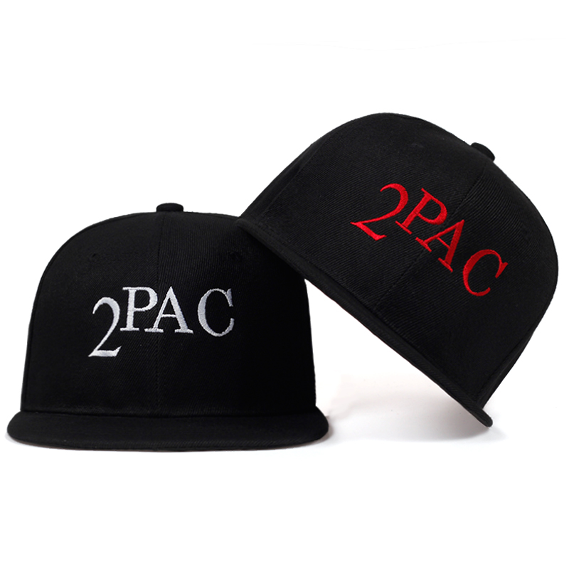 High quality 2PAC Letter Embroidery   baseball     cap   100%cotton fashion hat hip hop snapback   caps   Mens women Casual ROCK dad hats