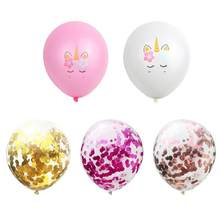 TOPATY 15pcs 30CM Latex Balloons Pink White Rose Gold Confetti Balloon Party Decoration Birthday Party Supplies(China)
