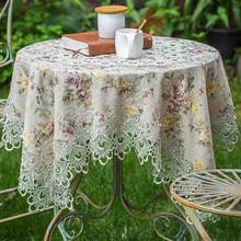 Mantel de encaje bordado Vintage, mantel de comedor, cubierta de mesa, restaurante, café, Bistro, boda, evento navideño, Catering, mantel P37