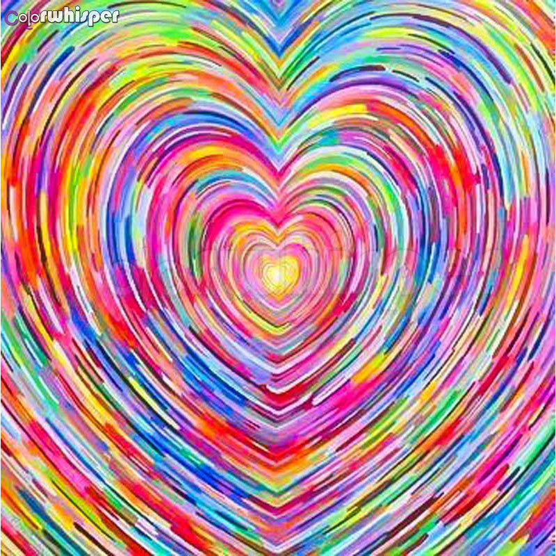 ColorWhisper Daimond Painting Full Square/ Round Heart-shaped Colourful Diamond Rhinestone Crystal Cross Stitch Mosaic 761DPColorWhisper Daimond Painting Full Square/ Round Heart-shaped Colourful Diamond Rhinestone Crystal Cross Stitch Mosaic 761DP