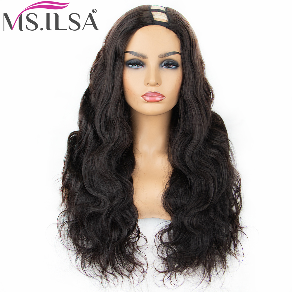 250% Density Human Hair Body Wave U Part Wigs For Black Women 6 Inch Left Part Brazilian Remy Hair Wigs Full End MS.ILSA