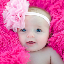 Baby Headband Cute Flower Hair Accessories Girl Headbands Make Up Band Ears Tie