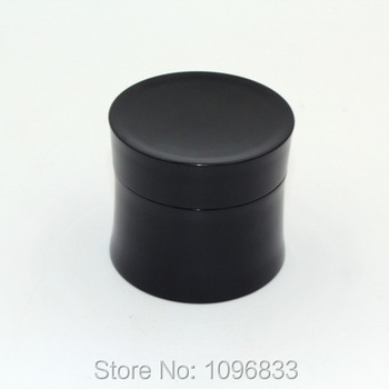 Cosmetic Cream Jar 15G Black Container Empty Packing Bottle Tight Waist Shape Box Plastic Bottle Container 360pcs