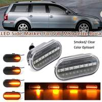 2x Dynamic Front Fender Flowing LED Side Marker Lights For VW MK4 Jette Bora Golf 3 4 Lupo Passat 3B 3BG Polo 6N 6N2 9N