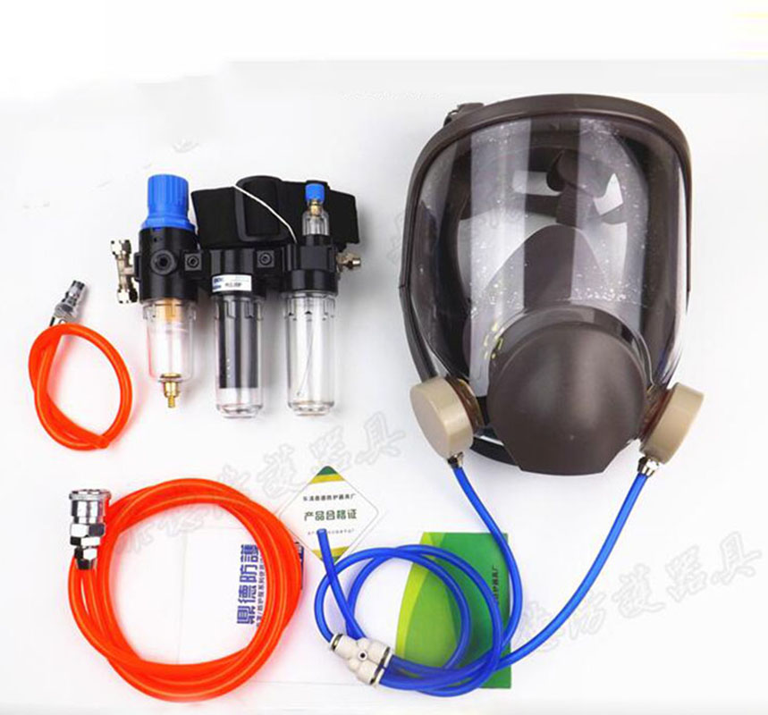 3-In-1 Gas Mask Chemcial Function Supplied Air Fed Safety Respirator System With 6800 Full Face Industry