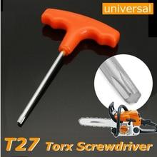 DWZ New T Handle T27 Torx Driver Screwdriver For Stihl Makita # 0812 370 1000 ключ torx t27 угловой aist 154227tt