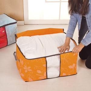 Image 2 - ورقة لحاف مع القطن حقيبة التخزين سماكة الصندوق يمكن نافذة حماية البيئة حجرة منظم أكياس مكنسة للملابس