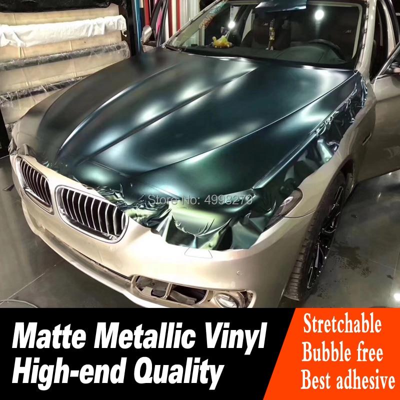 Höchste qualität Wald grün auto Vinyl Wrapping film Mit Air release Auto Wrap Fahrzeug Wraps deck niedrigen initial tack klebstoff