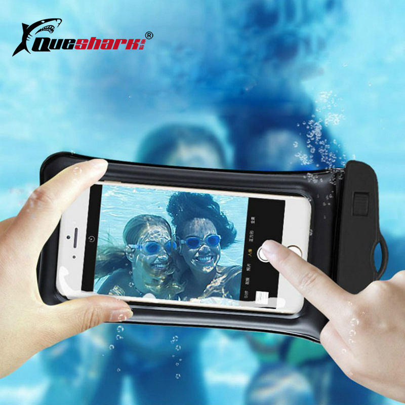 Airbag Floating Swimming Bags Waterproof Touchscreen Phone Bag Underwater Pouch Phone Case For Iphone 8 8s Universal 6.3 Inch