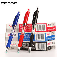 EZONE 0.5mm Bullet Gel Pen Red/Blue/Black Ink Press Gel Pen Replace Ink Clip Pen Office School Stationery Neutral Pen New Brand 20pcs lot hot selling 0 5mm plastic gel pen refill black neutral pen replace office school