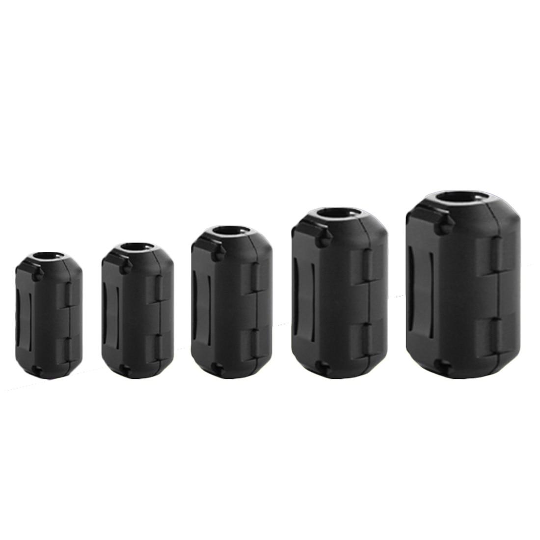 New 3.5mm 5pcs Black Ferrite Core Cable Filter Nickel-zinc Noise Suppressor for EMI RFI Clip Choke Ferrite Filters