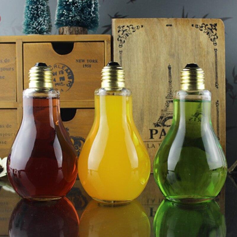 Summer Bulb Water Bottle Brief Cute Milk Juice Light Bulbs Cup Leak-proof Mug