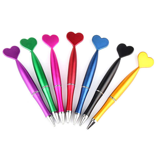 1Piece Cute Heart Ballpoint Pens 1.0mm Creative Pens Lovely Mermaid Tail Ball Pens For Writing School Office  Novelty Stationery 5