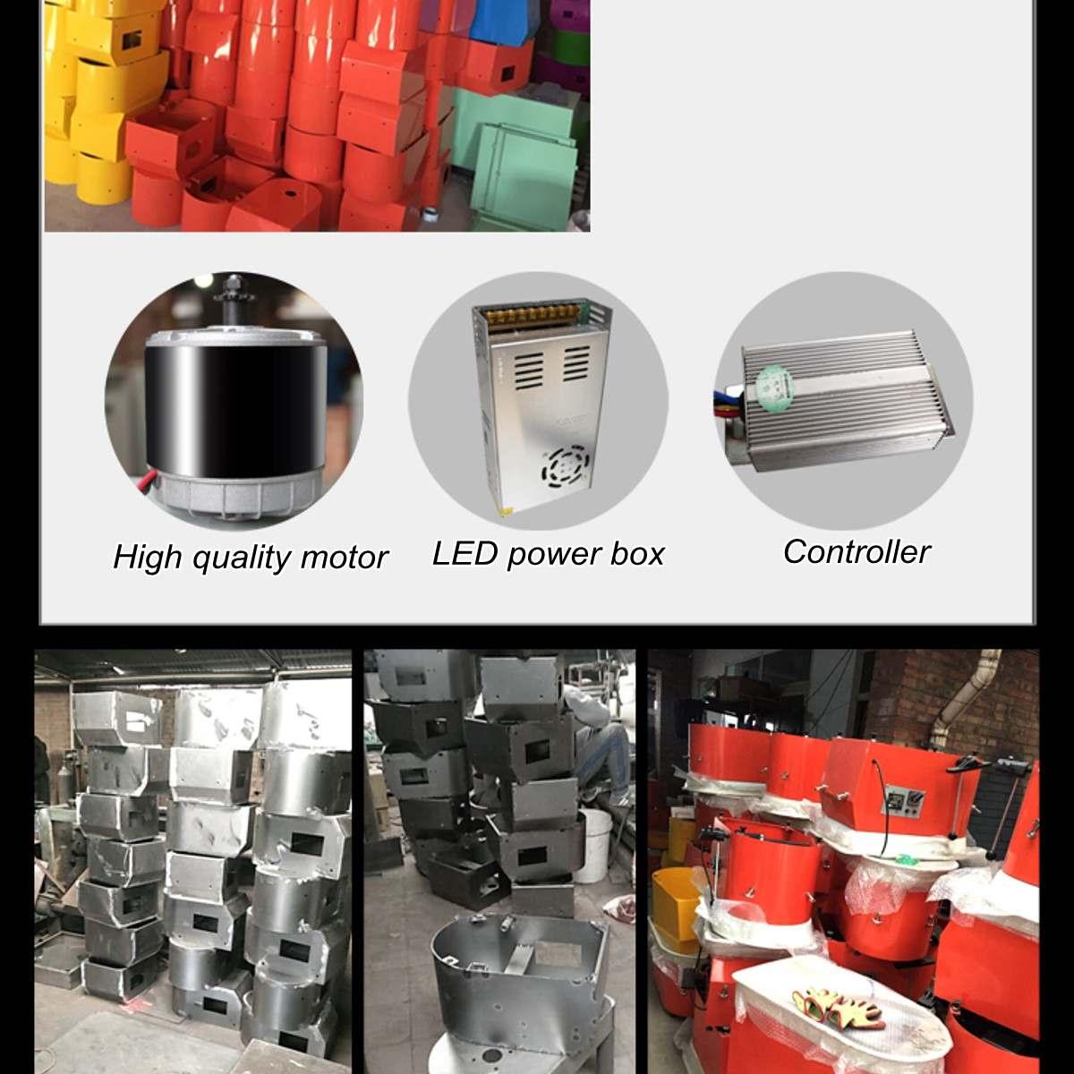Tour De potier Machine 32 cm 220 V 350 W à manivelle et pédale contrôle Travail En Céramique Argile Art Avec Mobile lisse À Faible Bruit - 6