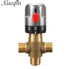 Xueqin 1 шт. Латунная Труба термостат кран Термостатический смесительный клапан ванная комната контроль температуры воды кран картриджи