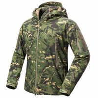 Außen Männer Frauen Fleece Liner Wasserdichte Jacke Taktische Militärische V.5 Camouflage Sport Camping Skifahren Warme Mit Kapuze Tops Mantel