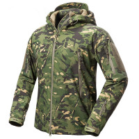 Outdoor Men Women Fleece Liner Waterproof Jacket Tactical Military V.5 Camouflage Sport Camping Skiing Warm Hooded Tops Coat