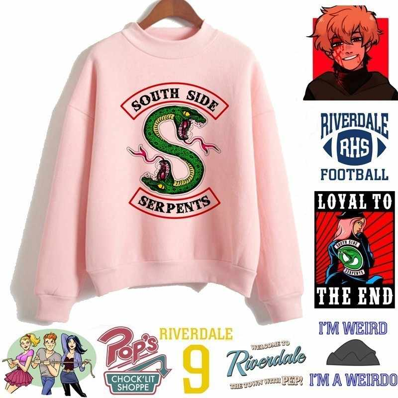 New Riverdale Southside Serpens Hoodies Album Print Sweatshirt Women Pullovers Fashion Style Cool Casual Clothing For Female