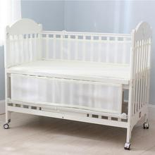 Get more info on the Newborn Toddler Baby Crib Breathable Mesh Baby Anti-Collision Bed Bumper Protector Detachable Snow White Crib Liner
