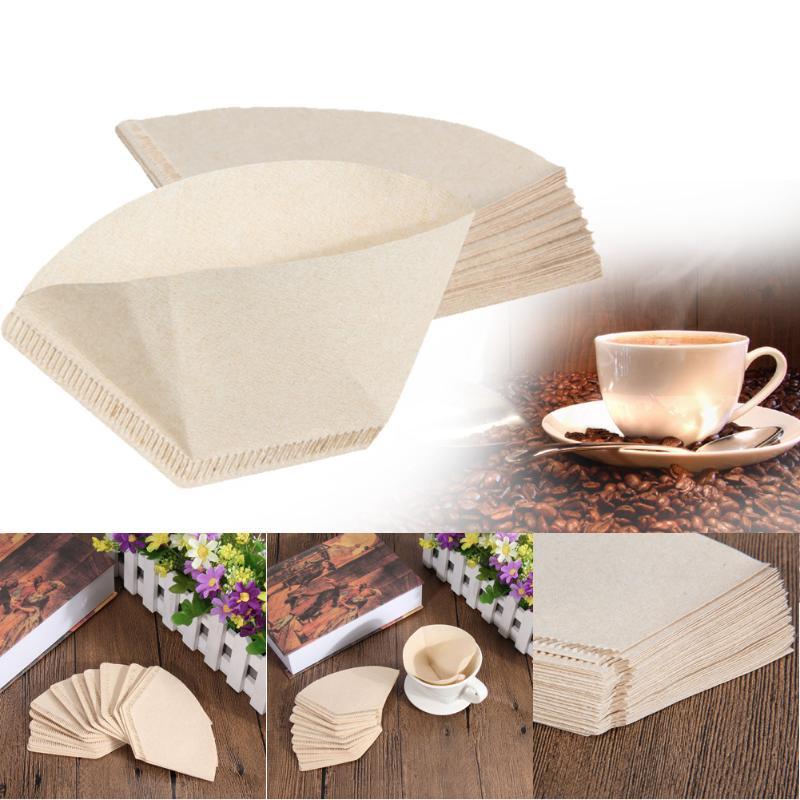 40pcs Wooden Original Coffee Paper Filter Tea Infuser Bag For Coffee Hand-poured Filter Drip Cup Tea Bag Strainer  9.5cm-10.5cm