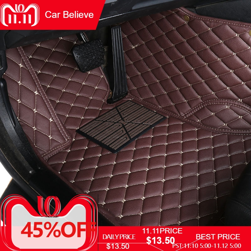 Car Believe Auto car floor Foot mat For citroen c5 c4 picasso c-elysee DS4 5 6 car accessories waterproof carpet rug floor line
