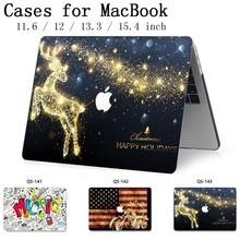 Для MacBook Air Pro retina 11 12 13,3 15,4 дюймов для ноутбука рукав для ноутбука MacBook Чехол с защитной клавиатурой