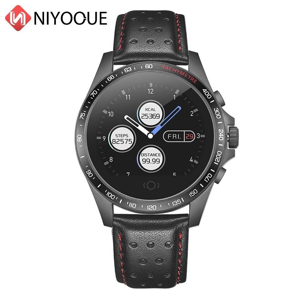 Bracelet intelligent étanche activité Fitness Tracker bande cuir Nylon Bracelet montre intelligente fréquence cardiaque Sport extérieur Smartwatch