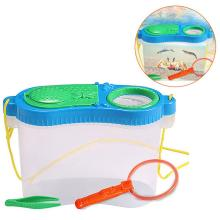 Детская обучающая игрушка для кормления насекомых, экспериментальная коробка для наблюдения за насекомыми, пластиковый ящик для инструментов, набор