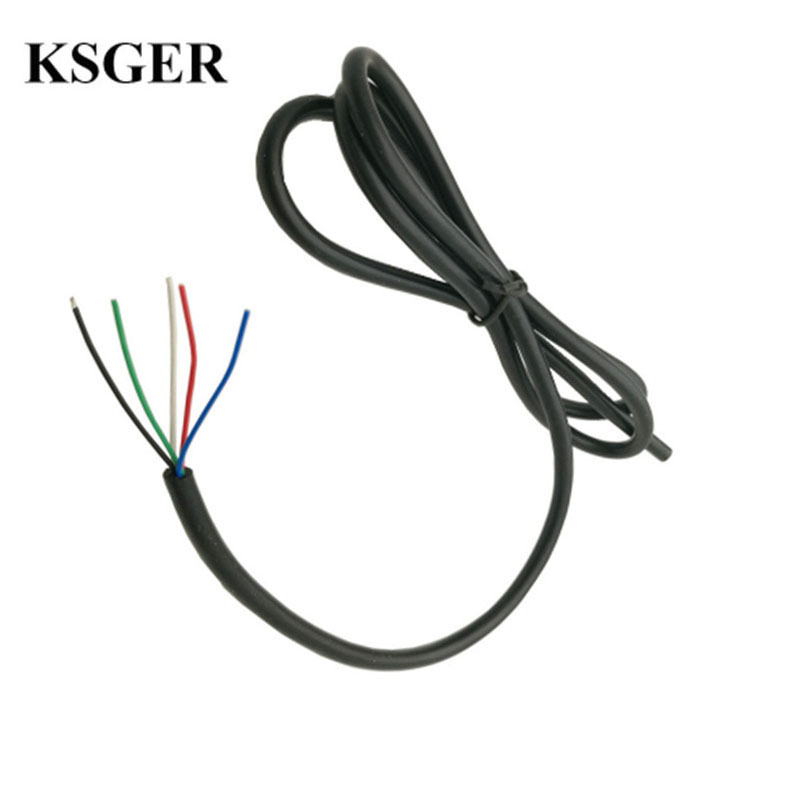 KSGER 5 Core Silicone Cable Wire Electronic Soldering Iron High Temperature Accusing Handle T12 Line Soldering Station Handle