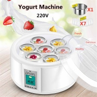 1.5L Automatic Yogurt Maker with 7 Jars Electric Yogurt Maker Yogurt DIY Tool Kitchen Appliances Liner Material Stainless Steel