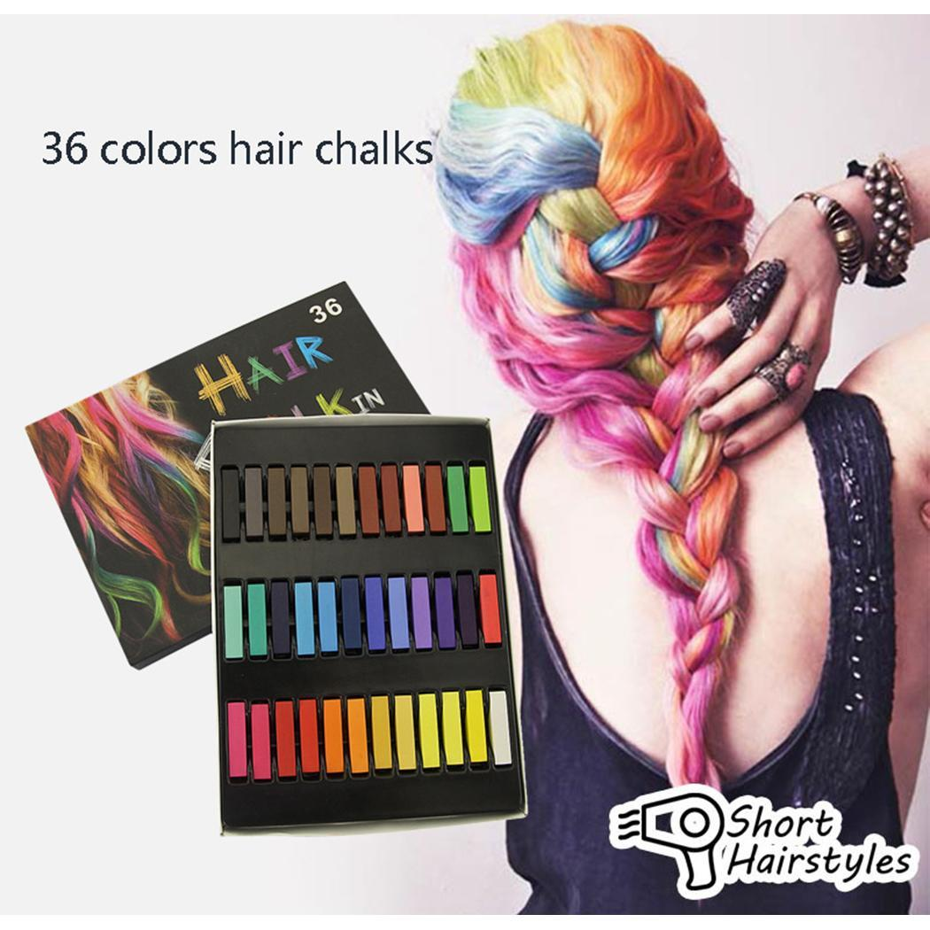 DIY Hair Styling Temporary Hair Color Kit Non-toxic Soft Pastel Hair Color Chalk for Party Christmas Makeup
