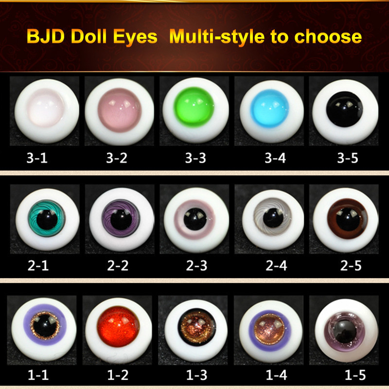 Starry Gradient Acrylic <font><b>BJD</b></font> Doll <font><b>Eyes</b></font> For <font><b>1/3</b></font> Doll Accessories Fantasy Starry 16mm Eyeball Makeup Doll DIY <font><b>Eyes</b></font> image