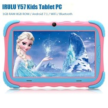 2019 New IRULU Y57 Kids Tablet PC 7.0 inch Android 7.1 RK3126C Quad Core 1GB RAM 16GB ROM Dual Camera Touch Screen Kids Tablet