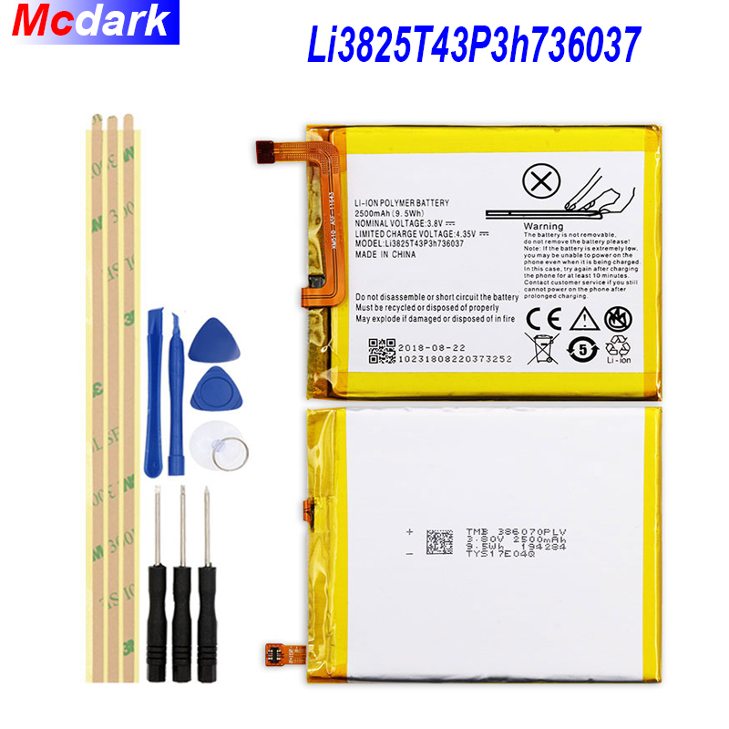 Li3825T43P3h736037 Battery For ZTE BV0720 / For ZTE Blade A2 / For ZTE Blade V7 Lite Dual SIM Batterie Bateria 2500mAh +ToolsLi3825T43P3h736037 Battery For ZTE BV0720 / For ZTE Blade A2 / For ZTE Blade V7 Lite Dual SIM Batterie Bateria 2500mAh +Tools