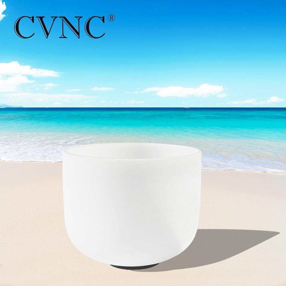 CVNC 8 Note C D E F G A B Chakra Frosted Quartz Crystal Singing Bowl
