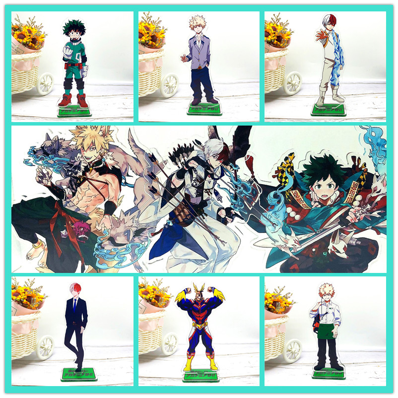 My hero academia figure acrylic toy Izuku Bakugou Todoroki URARAKA Tsuyu  Tokoyami All Might Aizawa