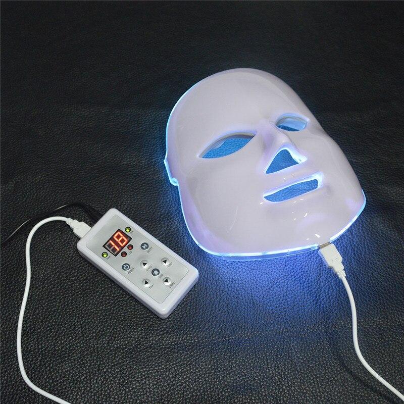 7 couleurs masque led Photothérapie Lumière Instrument de Beauté galvanique spa machine de soin de peau Rides Acné Remover Soins Du Visage Outils