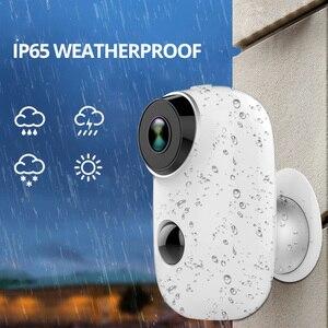 Image 4 - Wetrans Wifi Camera Oplaadbare Batterij 720 P HD Nachtzicht Weerbestendige IP CCTV Camera Outdoor Draadloze Cam Fish Eye Alarm