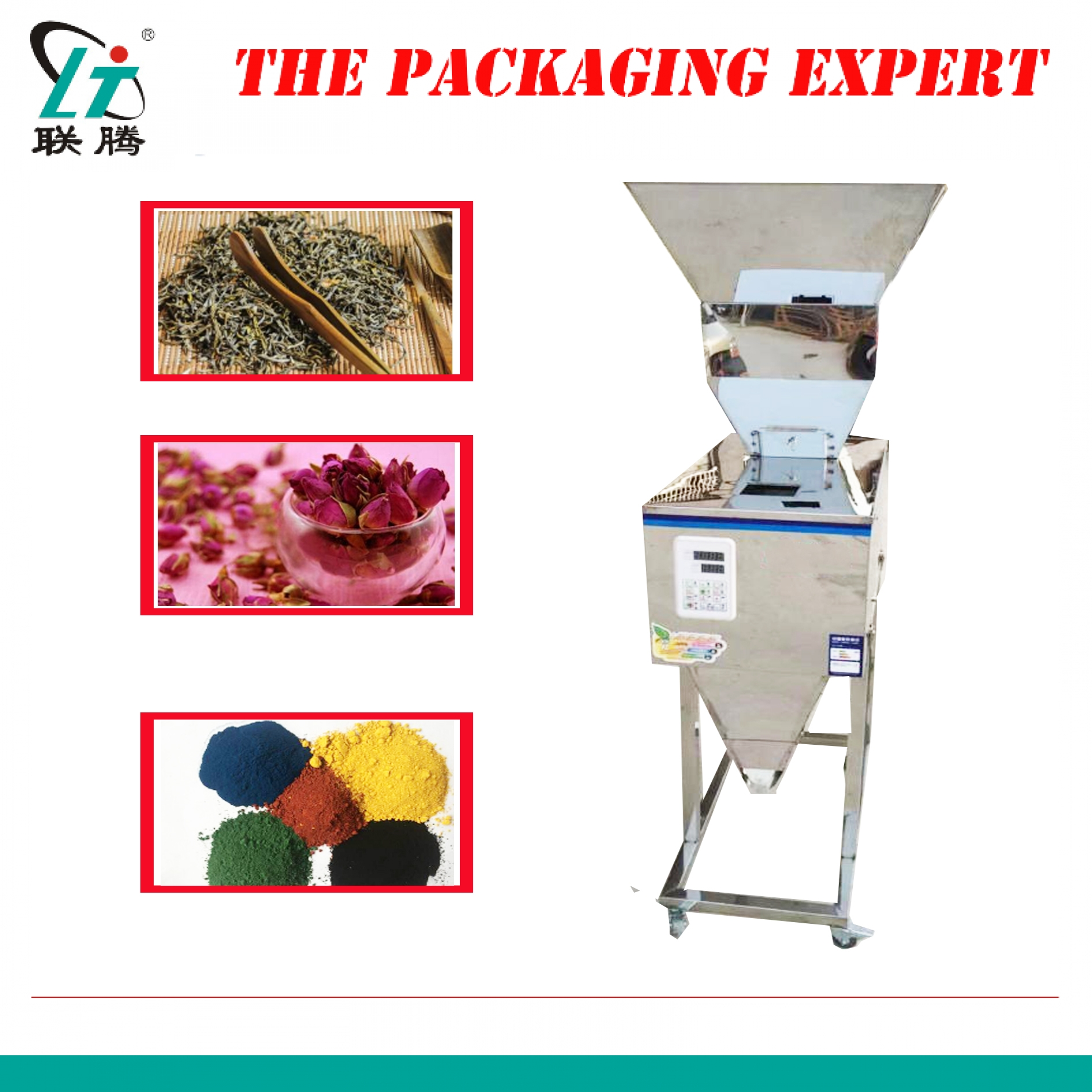20-2500g Automatic Scale Herb Filling And Weighing Machine Tea Leaf Grain,medicine,seed,salt Rice Packing Machine Powder Filler