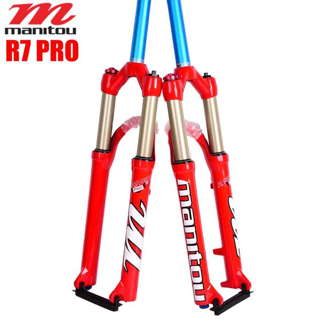 MANITOU Bicycle Fork R7 Pro 26 inches Mountain MTB Bike Fork red Pk SR SUNTOUR air Forks machete comp MARKOR Oil and gas fork