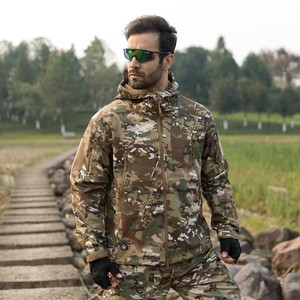 Image 5 - TAD Winter Thermal Fleece Army Camouflage Waterproof Jackets Men Tactical Military Warm Windproof Jackets Multicolor 5XL Coat