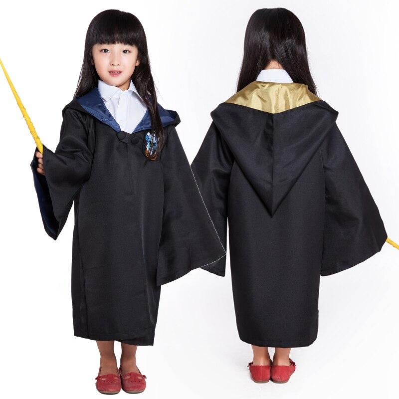 Milky Way Potter Halloween Cosplay Costume Cloak Children Harri Revenclaw Gryffindor Hufflepuff Slytherin Child Cosplay Costume
