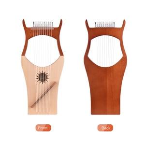 Image 2 - WH01 10 מחרוזת עץ נבל נבל ניילון מיתרי Rosewood Topboard גומי עץ קרש גב מחרוזת מכשיר עם לשאת תיק