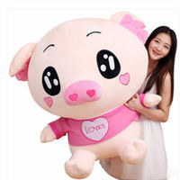 39'' Giant Big Pink Pig Plush Stuffed Animal Soft Toy Doll Pillow Birthday Gifts