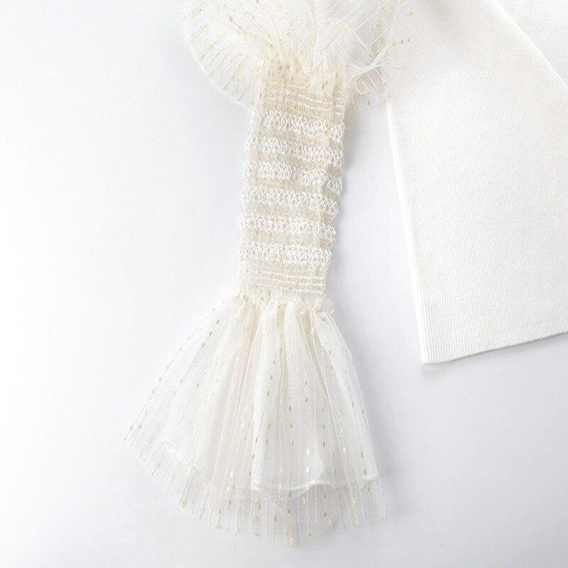 Tricot See Femmes Black De through Chandail white 2019 Nouveau Hauts Piste Gamme Rayé Printemps Maille Sexy En Jumper Élégant Haut Pull Twq1dgxqC