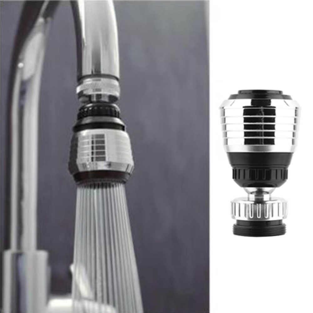 1 piezas de ahorro de agua giratoria cocina baño grifo adaptador aireador ducha Filtro de cabeza de conector