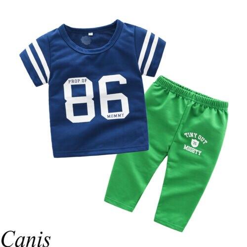 Smart Pudcoco Us 2pcs Newborn Kid Baby Boy 86 Print Tops Pants Baseball Uniform Outfits Summer Support Wholesale