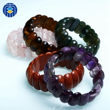 Natural Stone Beads Bracelet Classic Gemstone Bangle Wholesale Jewelry