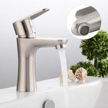 Stainless Steel Bathroom Basin Sink Faucet Single Hole Single Handle Cold And Hot Water Tap bathroom vessel faucet Hot Sale t004 pure water stainless steel single mouth gooseneck faucet