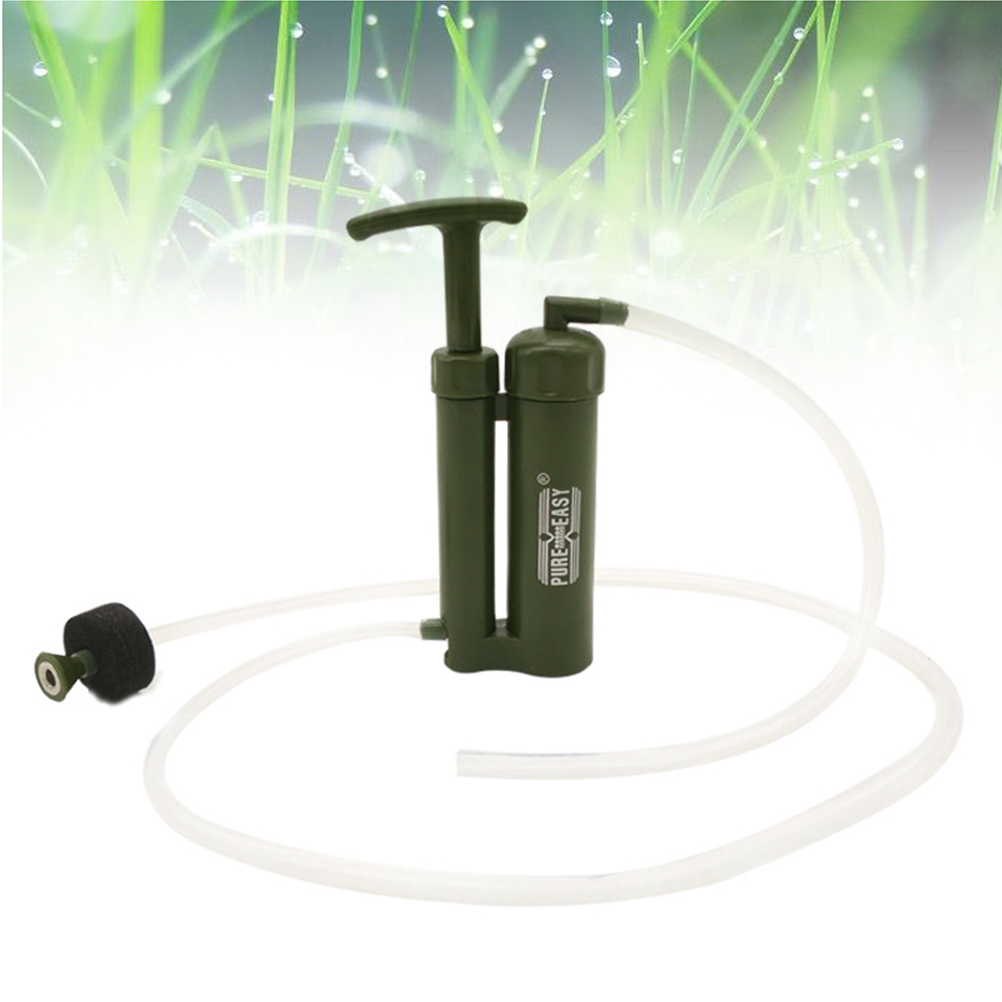 Portable Water Purifier Outdoor Living Water Filter Camping Survival Emergency Water Filtration Device Hiking Safety Survival